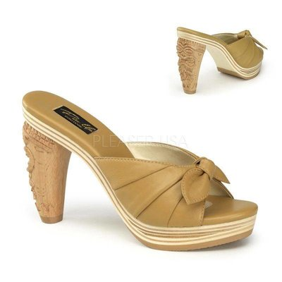Pin-Up Couture Tiki-102 Leather Slide