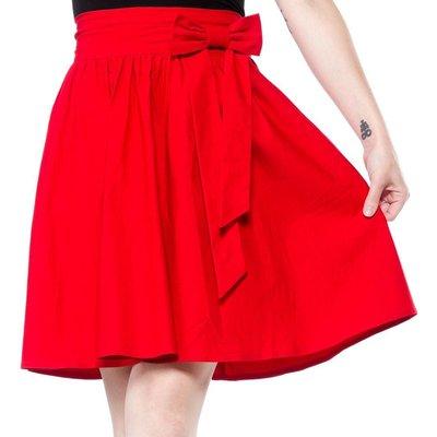Sourpuss Red Swing Skirt