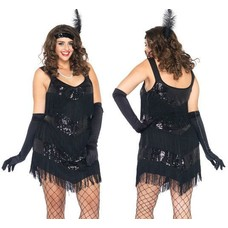 Leg Avenue Roaring 20's Honey Flapper Costume, 1X-2X