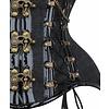 Vintage Goth Caren Curvy Grey Glenplaid Underbust - 30