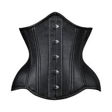 Vintage Goth Rinna Curvy Napa Leather Underbust - 24