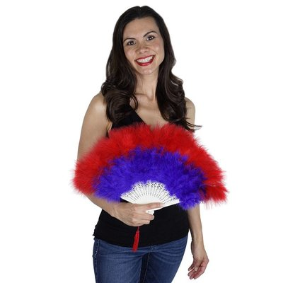 Marabou Fan Multi Color