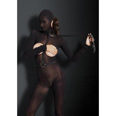Leg Avenue Nylon Bondage Harness w/ Ring & Leash