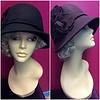 DeLux Hats Georgia Felt Cloche w/ Floral Detail