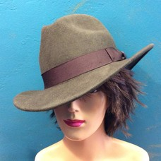 DeLux Hats Callum Unisex Hat w/ Brown Ribbon Band