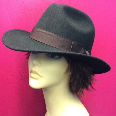 DeLux Hats Callum Unisex Hat w/ Brown Ribbon Band