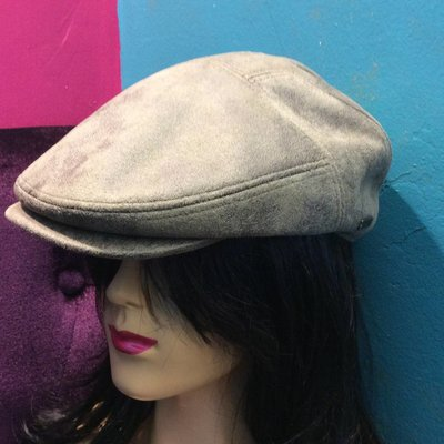 DeLux Hats Rocky Distressed Faux Leather Driver Cap