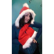 Elope Santa Knitted Hood/Scarf