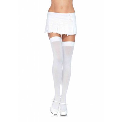 Leg Avenue Opaque Nylon Thigh Highs - Plus