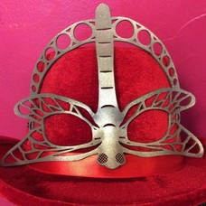 Tom Banwell Designs Dragonfly Leather Mask in Silver