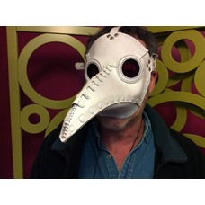 "Tom Banwell Designs Plague Doctor Mask in White Leather ""Schnabel"""