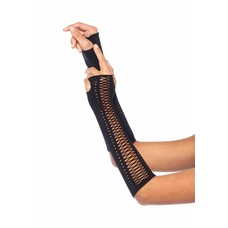 Leg Avenue Seamless Opaque Faux Laced Fingerless Gloves