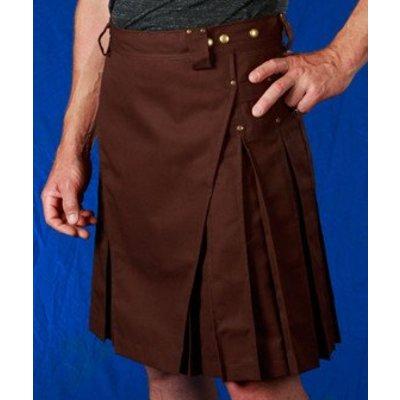 StumpTown Kilts Brown Kilt w/ Antique Brass