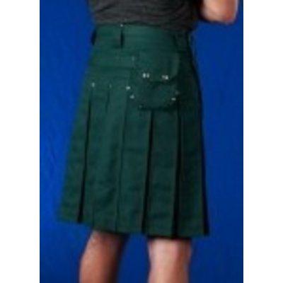 StumpTown Kilts Green Kilt w/ Antique Brass
