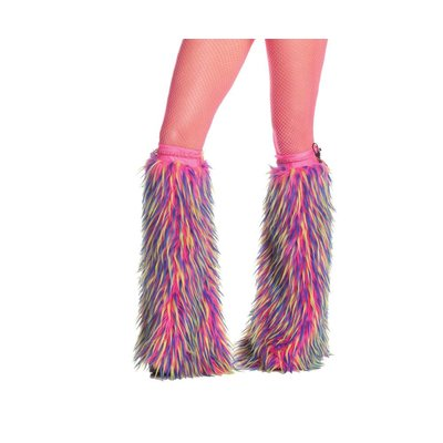 RaveWare Mixed-Color Faux Fur Boot Covers