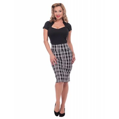 Steady Plaid Wiggle Skirt