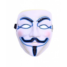 EmazingLights Guy Fawkes Mask w/ Blue EL Outlines