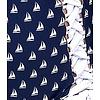 Unique Vintage Hamilton Navy & White Sailboats High Waist Bottom