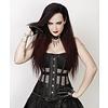 Vintage Goth Black Mesh Overbust Corset