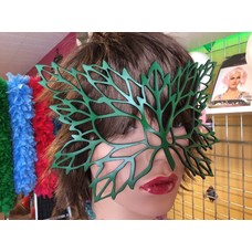 Tom Banwell Designs Lacy Leaf Leather Mask in Green