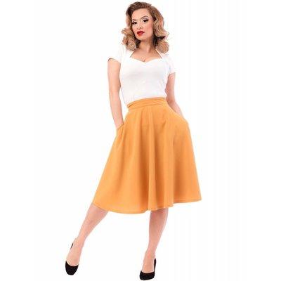 Steady Pocket High Waist Thrills Skirt in Mustard