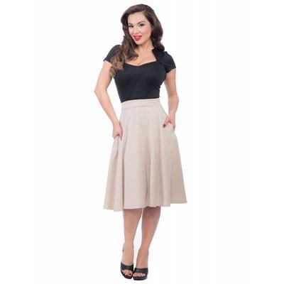 Steady Pocket High Waist Thrills Skirt in Stone