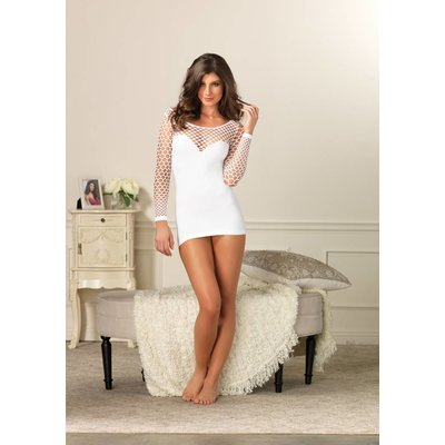 Leg Avenue Seamless Mini Dress, White