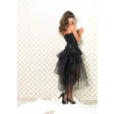 Leg Avenue Tulle Bustle Skirt w/ Lace & Bow PLUS
