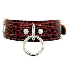 Kookie Exotic Print Halter Ring Collar