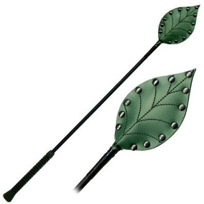 "Kookie Fig Leaf 26"" Heart Riding Crop"