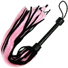 Kookie Pink Fur Fleece & Black Leather Flogger