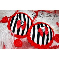Gothfox Designs Beetle Juice Pasties - S