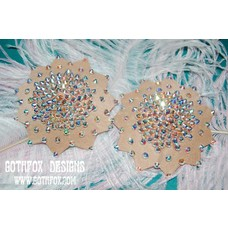 Gothfox Designs Galaxy Pasties - S