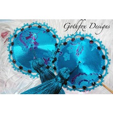 Gothfox Designs Couture Water Lily Pasties - S