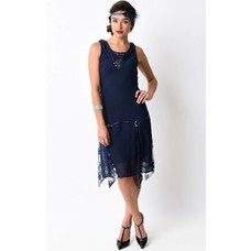 Unique Vintage Hemingway Chiffon Flapper Dress