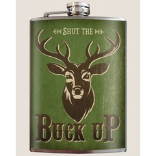 Trixie and Milo Buck Up! Flask, 8 oz
