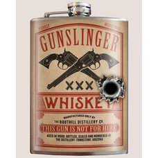Trixie and Milo Gunslinger Flask, 8 oz