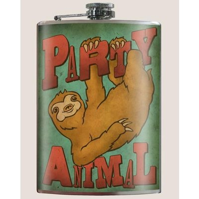 Trixie and Milo Party Animal Flask, 8 oz