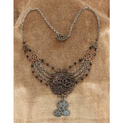 elope Antique Gear Chain Necklace