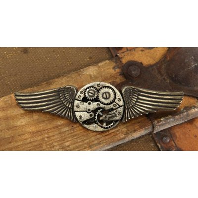 Elope Antique Gear Wings Pin