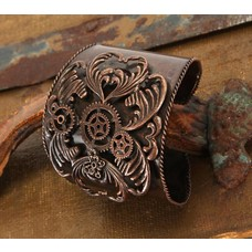 Elope Antiqued Copper Gears Metal Cuff