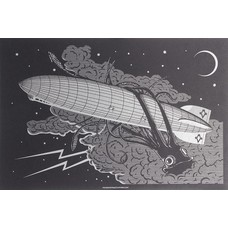 "Maiden Voyage Clothing Co. Dark and Stormy Night (Squid) POSTER 12"" x 18"""