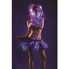RaveWare Medium Length Light-up Petti Black Blue Purple