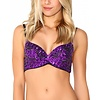 iHeartRaves Sequin Bra - Purple