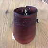 PNW Tribal Brown Leather Cuff