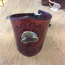 OctoProp Brown Leather Cuff