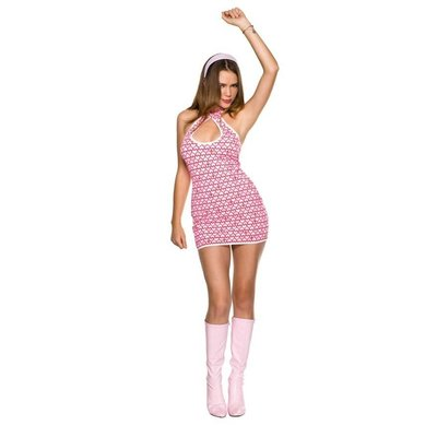 Music Legs 2 Pc. Hearts Print Gogo Dress w/headband, Size SM