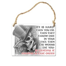 Alchemy England 1977 Life is Hard Sign