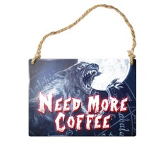 Alchemy England 1977 Need More Coffee Sign