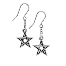 Alchemy England 1977 Black Star Earrings